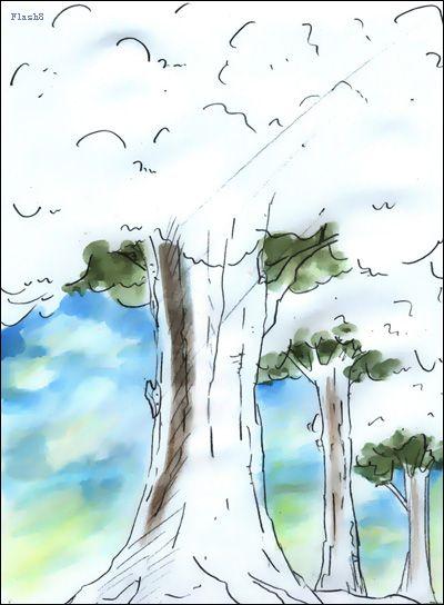 美工设计团队_手绘卡通图像实例:苍劲的大树 九域天地美工技术教学,设计 ...